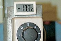 Прежде чем начать испытания током холодной прокрутки, батареи в течение суток выдерживались при температуре минус 18 градусов