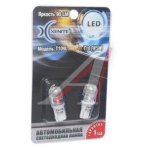Лампа светодиодная 12V W5W 1W W2.1х9.5d белая блистер (2шт.) XENITE 1009273, А12-5-2