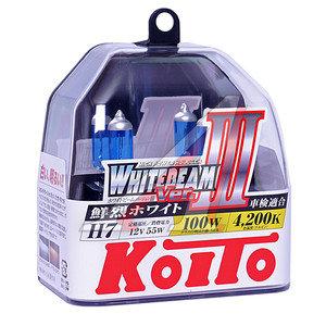 Лампа 12V H7 55W+100% PX26d бокс (2шт.) Whitebeam KOITO P0755W, АКГ 12-55 (Н7)