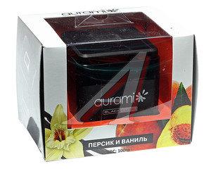 Ароматизатор на панель приборов гелевый (ваниль и персик) 100г Black Label AURAMI BL-03