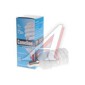 Лампа энергосберегающая E14 15W (75W) холодный CAMELION Camelion LH15-FS-T2-M/842/E14, 10586