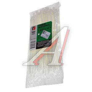 Хомут-стяжка 180х5.0 пластик белый (100шт.) FORTISFLEX 1005180, 49784