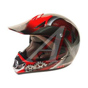 Шлем мото (кросс) детский MICHIRU Gear Red MC 110 M, 4680329007698