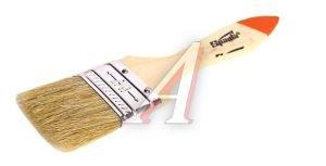 """Кисть плоская 1.5"""" натуральная щетина деревянная ручка Slimline SPARTA 824255"""