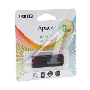 Карта памяти USB 8GB APACER AH325 BLACK APACER AH325 BLACK