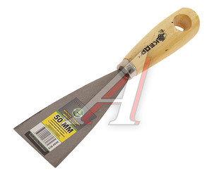 Шпатель 50мм металлический с деревянной ручкой КЕДР 26196, 4650002036185