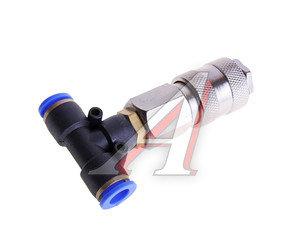 Соединитель трубки ПВХ,полиамид d=8мм тройник с быстросъемом АТ-0799, AT10799/АТ-0799