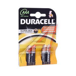 Батарейка AAA LR03 1.5V Alkaline блистер (4шт.) DURACELL D-LR03N, D-LR03N(4)бл