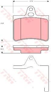 Колодки тормозные CITROEN C5 (2.0D/2.2D/3.0) (01-) задние (4шт.) TRW GDB1450, 425334