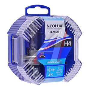 Лампа 12V H4 60/55W P43t 4000K бокс (2шт.) Blue Light NEOLUX N472B-2, NL-472B2, АКГ12-60+55(Н4)