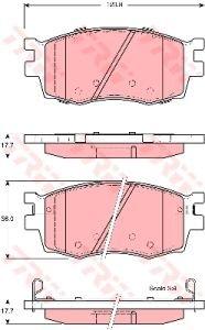 Колодки тормозные HYUNDAI Accent KIA Rio (05-) передние (4шт.) TRW GDB3420