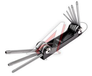 Набор ключей TORX Т9Н-Т40Н складных с отверстием 8 предметов JTC JTC-3503