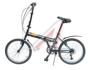 "Велосипед 20"" 18-ск. складной черный FOLDING BIKE TOTEM T15B706 B, T15B706"