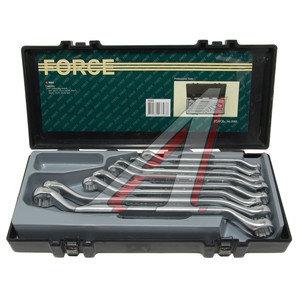Набор ключей накидных 8-24мм 8 предметов в кейсе изгиб 45град. FORCE F-5085, 5085