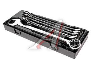 Набор ключей комбинированных 24-32мм 8 предметов в кейсе изгиб 15град. с зеркальной полировкой JTC JTC-K6085