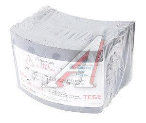 Накладка тормозной колодки ЗИЛ-130 задней сверленая расточен.комплект 8шт.с заклепками 4331-3502105, 130-3502105(02/03)R0 К-Т