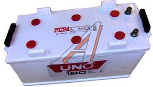Аккумулятор UNO 190А/ч универсальные клеммы 6СТ190, 83572