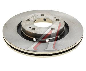 Диск тормозной MITSUBISHI Outlander (03-12) передний (1шт.) KORTEX KD0203, DF6174, 1611429880