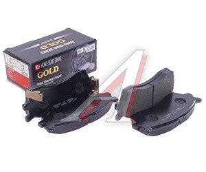 Колодки тормозные KIA Spectra (ИжАвто),Rio (02-),Clarus (98-) передние (4шт.) HSB HP1008, GDB3245/0K2N1-33-28ZA/0K9B6-33-28Z/58115-FDA00, 58115-FDC00
