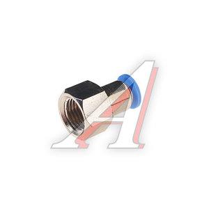 """Фитинг для пластиковых трубок 1/4"""" 6мм с внутренней резьбой ROCK FORCE RF-SPCF06-02"""