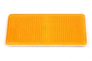 Катафот прямоугольный на липучке (желтый) АВТОТОРГ 340502 ж (YP-19), 340502 ж