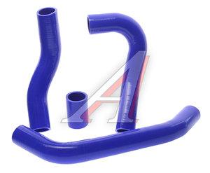 Патрубок УАЗ-3160 дв.IVECO радиатора комплект 4шт. синий силикон 31631-1303010
