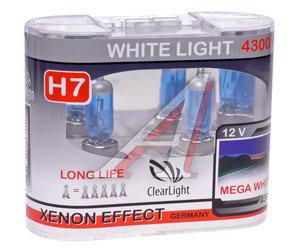 Лампа H7 12V 55W White Light бокс (2шт.) CLEARLIGHT MLH7WL, АКГ 12-55 (Н7)