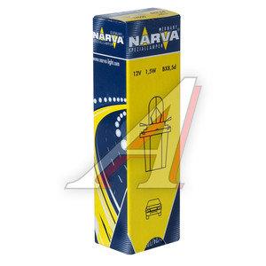 Лампа 12V 1.5W Bax8.5d желтый патрон NARVA 170503000, N-17050
