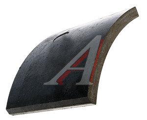 Накладка тормозной колодки прицепа КАМАЗ б/а Wшир.=200мм;Lдуги=185мм;hтолщ.=17мм ТИИР 9908-3501105-21, 9908.003501.105-01