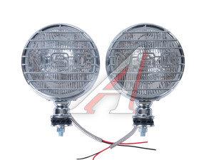 """Фара прожектор 7"""" 12V d=176мм с крышкой белая хром комплект SIRIUS NS-830 CHROM, NS-830CW"""