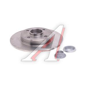 Диск тормозной PEUGEOT 307 (02-) CITROEN C4 (04-) задний (1шт.) TRW DF2059BS, 4249.34