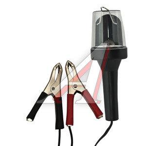 Лампа переносная 12V провод 2м с зажимами для аккумулятора IL-313A