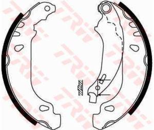 Колодки тормозные RENAULT Clio 2 задние барабанные (4шт.) TRW GS8669, 7701205758
