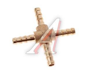 Переходник для шланга подкачки X-образный d=6мм АВТОТОРГ АТ-0186, AT10190/АТ-0186