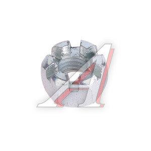 Гайка М10х1.5х8.4 корончатая шестигранная оцинкованная DIN935