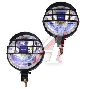Фара дальнего света 12V d=130мм с решоткой laser комплект SIRIUS NS-8015 LASER, NS-8015L