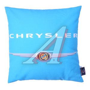 Подушка автомобильная CHRYSLER (35х35см) антистрессовая голубая MAGIC BALLS CK-00086