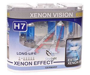 Лампа H7 12V 55W Xenon Vision бокс (2шт.) CLEARLIGHT MLH7XV, АКГ 12-55 (Н7)