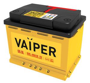 Аккумулятор VAIPER 55А/ч обратная полярность 6СТ55, 84478