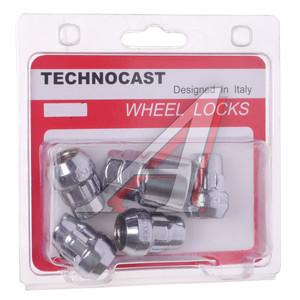 Гайка колеса М14х1.5 секретки комплект 1 ключ TECHNOCAST TECHNOCAST-RACINC