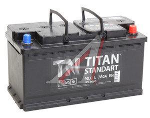 Аккумулятор ТИТАН Standart 90А/ч обратная полярность 6СТ90