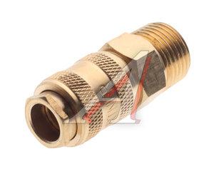 """Переходник для компрессора M1/2"""" быстросъемный с клапаном наружная резьба BSE1-4SM, PN-BSE1-4SM"""