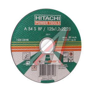 Круг отрезной по металлу 125х1.2х22 А24 HITACHI HTC-12512HR