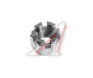 Гайка М12х1.25х14 ЗИЛ опоры двигателя передней прорезная ЭТНА 250869-П29, 250869-0-29