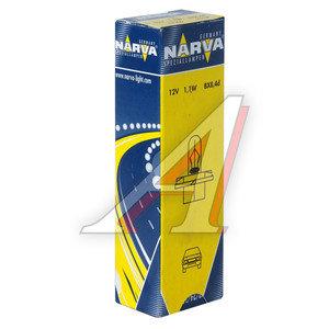 Лампа 12V 1.1W Bax8.4d оранжевый патрон NARVA 170463000, N-17046