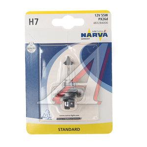 Лампа 12V H7 55W PX26d блистер (1шт.) NARVA 48328B1, N-48328бл, АКГ 12-55 (Н7)