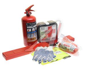 Набор автомобилиста (огнетушитель ОП-2,аптечка,знак,трос 5т,перчатки,жилет) Emergency AVS A07379S, AN-02