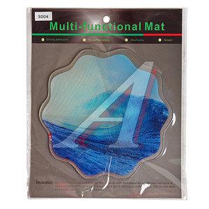 Коврик на панель приборов универсальный противоскользящий 190х190 с рисунком волна ART3004
