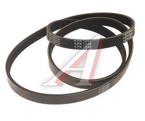 Ремень приводной поликлиновой 4PK1240 KORTEX KDB196, 4PK1240