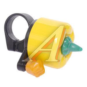 Звонок велосипедный желтый ПЕРЕЦ *LU000854*, 210020